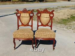 5 Piece Late Victorian Parlor SetSetteeRockerArm Chair4 Side Chairs