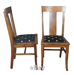 6 Antique Late Victorian Quartersawn Oak National Furniture Co Dining Chairs