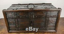 A Fabulous Late 16th Century Iron Bound Collection Chest