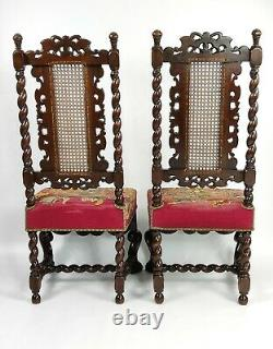 A Fine Set Of Four Late 17th Early 18th Century Walnut Chairs