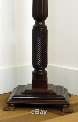 A Good Late Victorian Mahogany Torchere Stand
