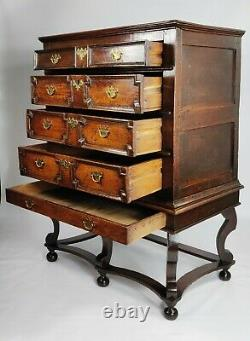A Late 17th Century Oak Chest On Stand