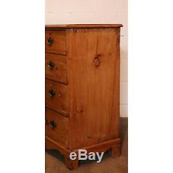 A Late Georgian Stripped Pine Two over Three Chest of Drawers, Great Size