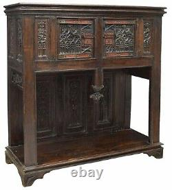 A gothic oak cupboard/dressoir, late 15th / early 16th century and later (U02)