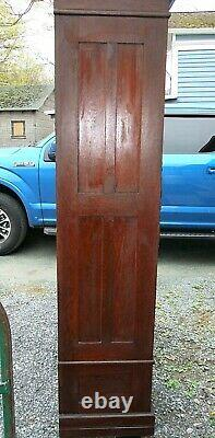 ANTIQUE ARMOIRE, Large 7 ft Tall, Dark Wood, Knockdown, Late 1800s-Early 1900s