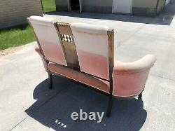 ANTIQUE EASTLAKE LOVE SEAT SETTEE SOFA Bench- COUCH late 1800s