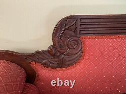 ANTIQUE LATE 1860'S SOFA WITH FRUIT AND NUT CARVINGS Furniture
