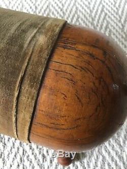 ANTIQUE Wood Gout Stool- Parlor Pig- Late 1800s Original Upholstery UNIQUE
