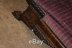 Ahogany Federal/Empire Sofa, Late 19th Century