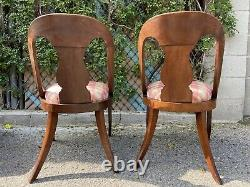 American Late Classical French Empire Gondola Chairs Matching Set of 2