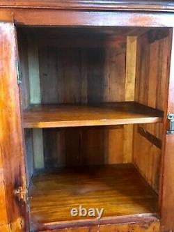Antique American Late 19th C. Finely Paneled Cabinet Cupboard 28 in. H