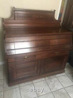 Antique Art Nouveau Late 1800s Solid Wood Trundle Bed