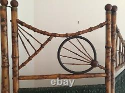 Antique Bamboo Folding Room Dividing Screen Late 1800s Early 1900s Very Unique