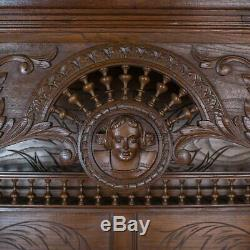 Antique, Breton Cabinet, Carved French Sideboard, Oak, Late 19th Century C. 1880