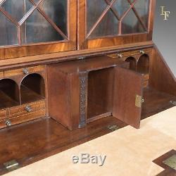 Antique Bureau Bookcase, English, Late Georgian, Mahogany, Writing Desk c. 1800
