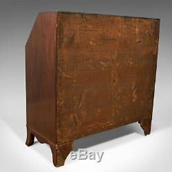 Antique Bureau, English, Georgian, Desk, Mahogany, Late 18th Century, Circa 1790