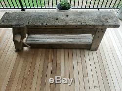 Antique Carpenters Oak Workbench late 1700s