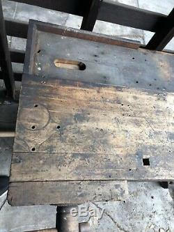 Antique Carpenters Workbench-late 1800s -1920s Wood Working Table