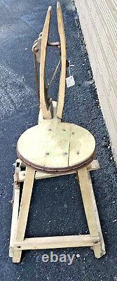 Antique Cobbler Leather Horse Saddle Maker Primitive Work Bench Late 1800's