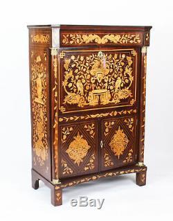 Antique Dutch Walnut Marquetry Secretaire Abattant Chest Late 18th Century