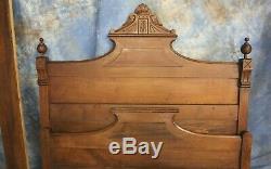 Antique Eastlake Headboard & Footboard Double Full Bed Late 1800's