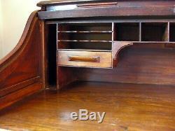 Antique English roll top desk circa late 1800's