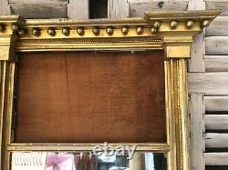 Antique FRENCH TRUMEAU CARVED Wood MIRROR, Late 1800s