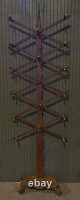Antique Folky Walnut Hall Rack Probably Late 19th Century WOW