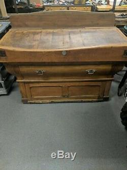 Antique French Butcher Block Table- Believed to be late 19th Century
