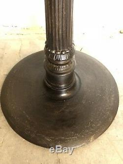 Antique FrenchLion Heads Cast Iron Round Rotating Top Pub Table late19th cent