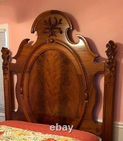 Antique Hand Crafted Wooden Full Bed Frame Late 1800's Pick Up in Baltimore MD