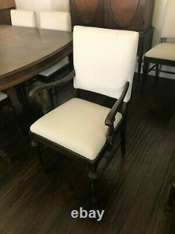 Antique Jacobean Style Wood Dining Room Set late 1800s 12 pieces Ottowa Furn. Co
