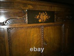 Antique Jacobean Walnut Dining Room Buffet Circa Late 1800s