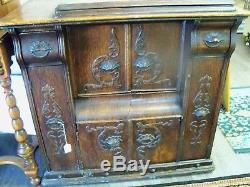 Antique LATE 1800's SEWING MACHINE CABINET. FURNITURE. TABLE. BASE