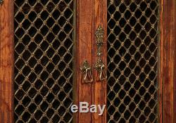 Antique Large Late 19th. C. Gothic Revival Oak Bookcase c. 1880