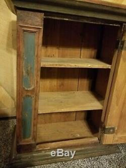 Antique Late 1700's European Vanity or Cupboard with Key