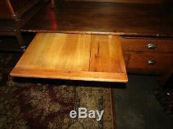 Antique Late 1800's 2 Pc Oak Hoosier Cabinet