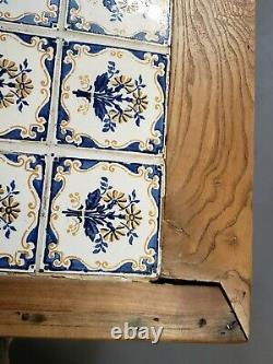 Antique Late 1800s French Farmhouse Solid Cherry Sideboard with Tile Top