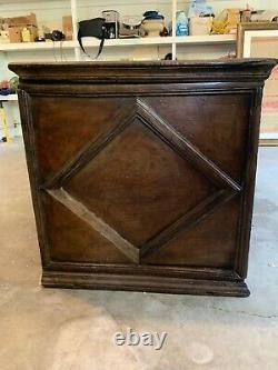 Antique Late 18th C Brazilian Colonial Arca Coffer Chest with Decorative Molding