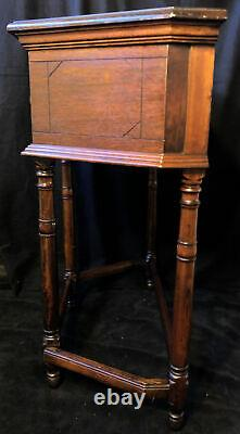 Antique Late 18th Early 19th Century Wood Console Table Burl Veneer Side Hall