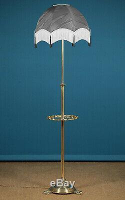 Antique Late 19th. C. Brass Standard Lamp c. 1890