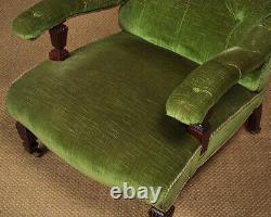 Antique Late 19th. C. Button Back Easy Armchair c. 1880