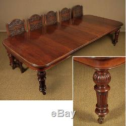 Antique Late 19th. C. Extending Oak Dining Table c. 1880