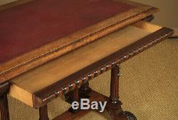 Antique Late 19th. C. Walnut Desk or Library Table c. 1880