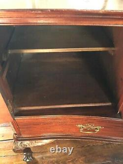 Antique Late 19th Century Carved Mahogany Server / Sideboard From The Kodak Home
