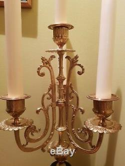 Antique Late 19th Century French Candelabra Napoleon III Style