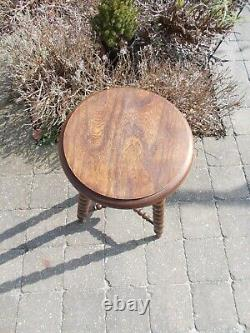 Antique Late 19th Century Tripod Bobbin Turned Side Table Plant Stand