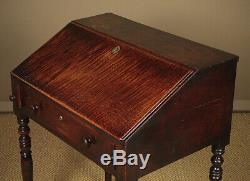 Antique Late Georgian Oak Clerks Desk Or Bureau c. 1800