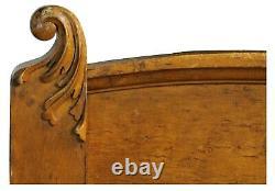 Antique Late Victorian Innis Pearce & Co Birdseye Maple Full Size Bed Headboard