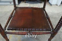 Antique Late Victorian Mahogany Tiered Pedestal Parlor Table Plant Stand 33